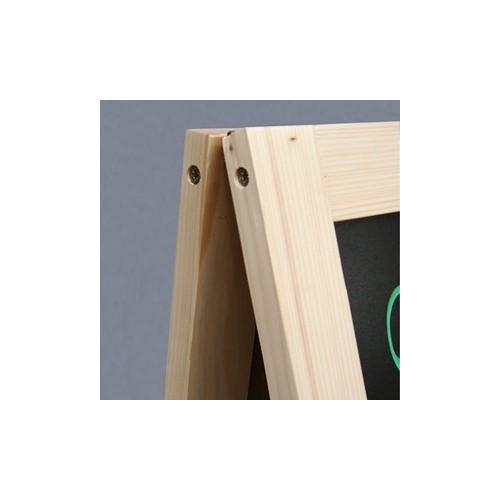 Tablica kredowa drewniana na stojaku A 60x90 cm