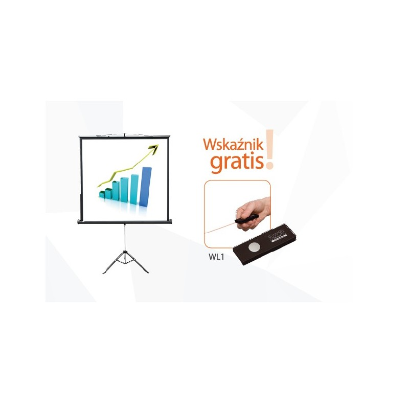 165x122 Ekran projekcyjny przenośny POP na trójnogu + wskaźnik gratis!