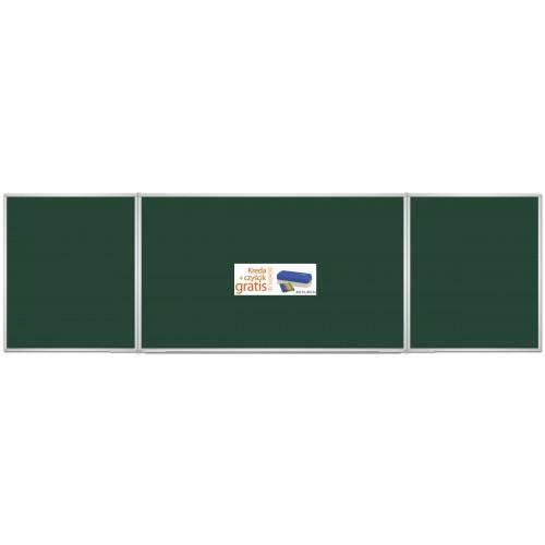 Tablica rozkładana zielona kredowa 170x100/340 + kreda i czyścik gratis!