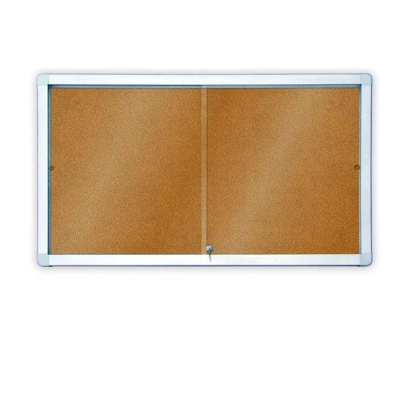 Gablota z przesuwnymi drzwiami korkowa - wewnętrzna 97x70
