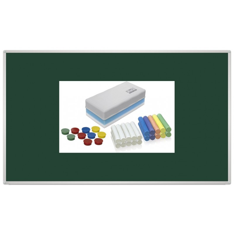 Tablica kredowa magnetyczna lakierowana 170x100 + kreda i czyścik gratis!