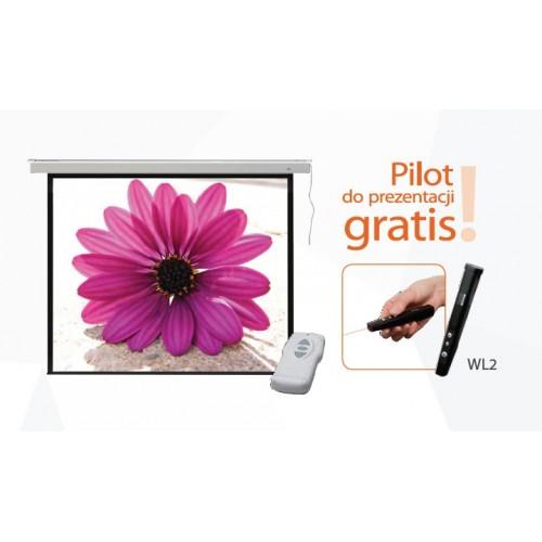 195x145 Ekran projekcyjny elektryczny PROFI + pilot gratis!