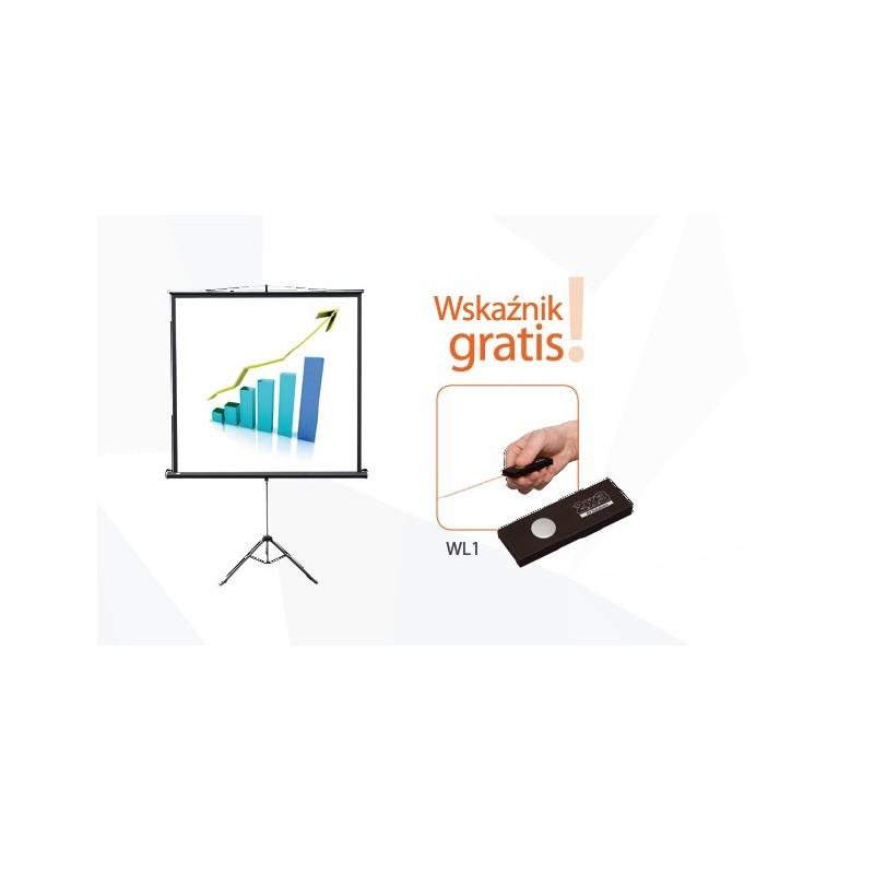 195x145 Ekran projekcyjny przenośny POP na  trójnogu + wskaźnik gratis!