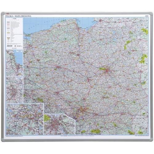 Tablica - Mapa Polski miękka - administracyjna