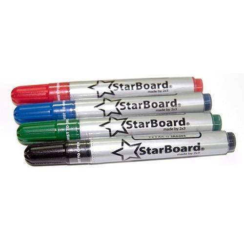 Markery suchościeralne 2x3 StarBoard komplet 4 kolory