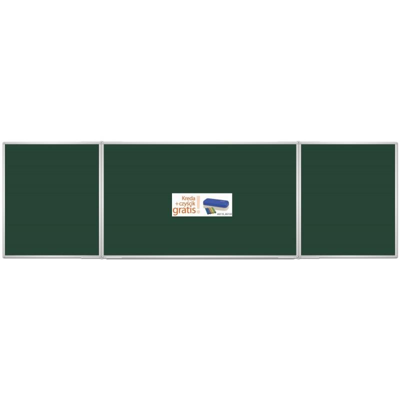 Tablica rozkładana suchościeralna kredowa zielona lakierowana 170x100/340 + kreda i czyścik gratis!