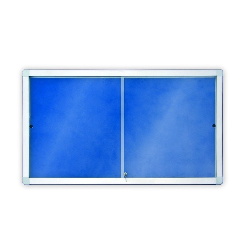 Gablota z przesuwnymi drzwiami tekstylna - wewnętrzna 8xA4 97x70