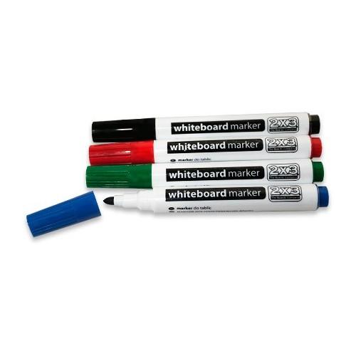 Markery suchościeralne 2x3 (15 sztuk)- czarne