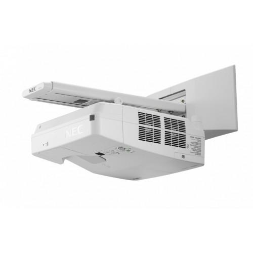 Projektor NEC UM361X w zestawie z uchwytem ściennym.