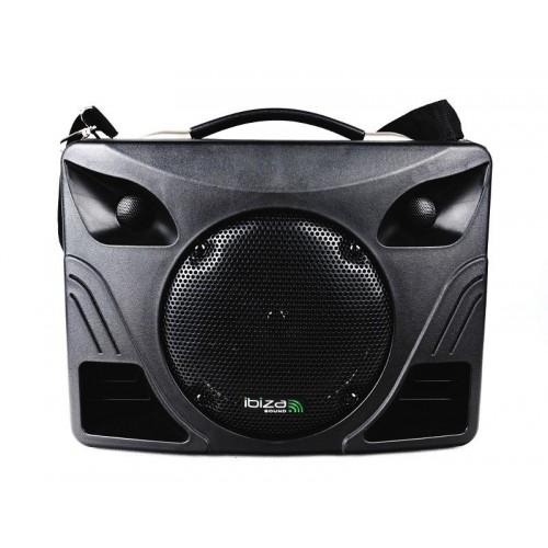 Mobilny system nagłośnienia Ibiza Sound PORT85VHF-BT z akumulatorem