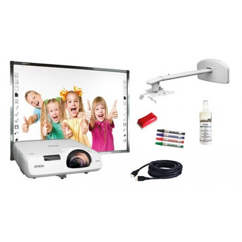 Zestaw interaktywny Qomo QWB379BW/PS + Epson EB-520