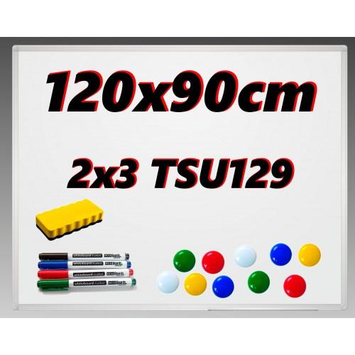 Tablica 2x3 suchościeralna 120x90 - powierzchnia magnetyczna + gratisy