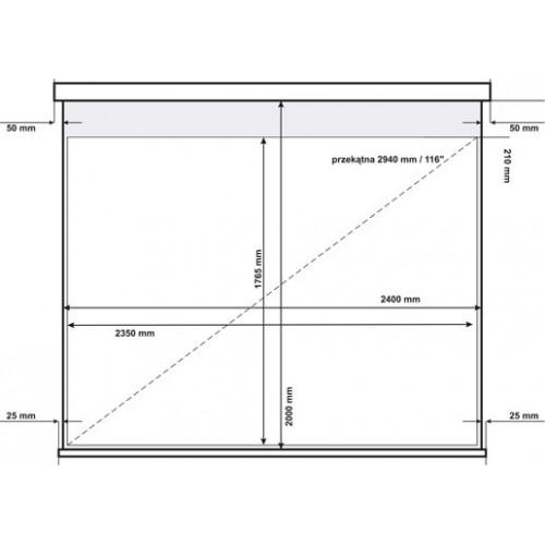 Ekran projekcyjny elektryczny AVtek Video Electric 240BT 4:3