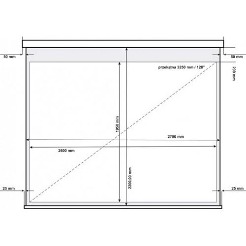 Ekran projekcyjny elektryczny AVtek Video Electric 270BT 4:3