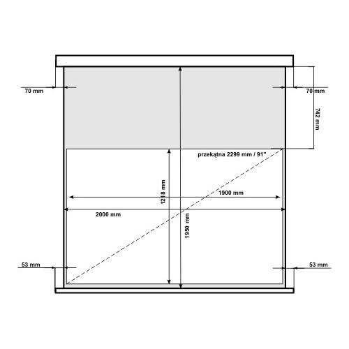 Ekran projekcyjny elektryczny AVtek Business Premium 200BT 16:10