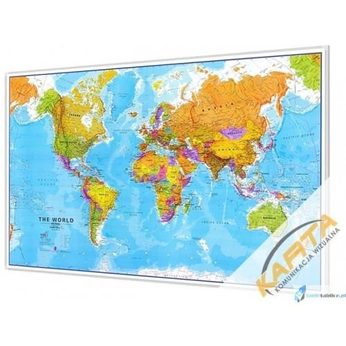 Polityczna mapa świata 1:20mln 200x122cm