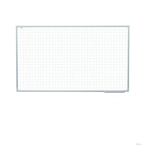 Tablica magnetyczna z nadrukiem w kratke ceramiczna 170 x 100