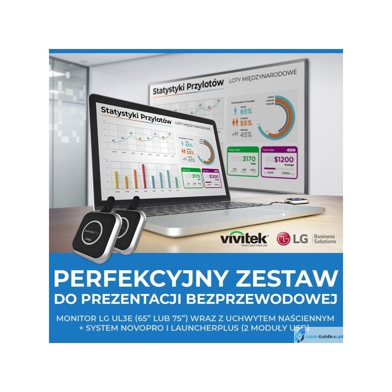 Zestaw monitora i systemu bezprzewodowej prezentacji NovoPro
