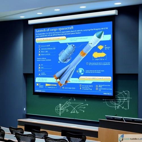 Ekran projekcyjny SUPREMA LUPUS elektrycznie rozwijany Matt White