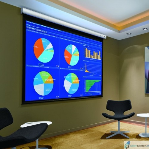 Ekran projekcyjny SUPREMA ANDROMEDA IM 4:3 elektrycznie rozwijany Matt White HD