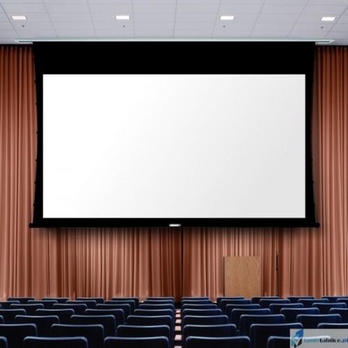 Ekran projekcyjny SUPREMA KASTOR 16:9 zabudowa sufitowa elektrycznie rozwijany Matt Grey HD Pro