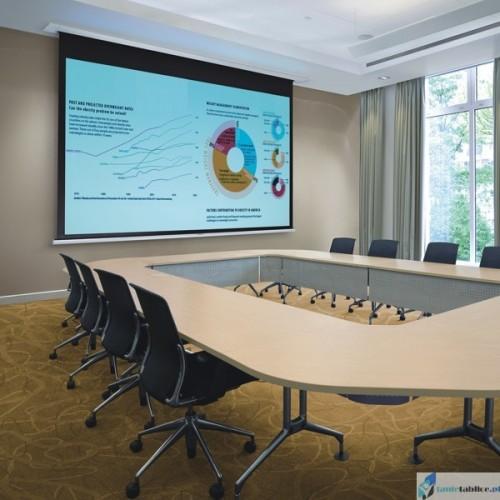 Ekran projekcyjny SUPREMA POLARIS PRO 4:3 zabudowa sufitowa elektrycznie rozwijany Matt White HD