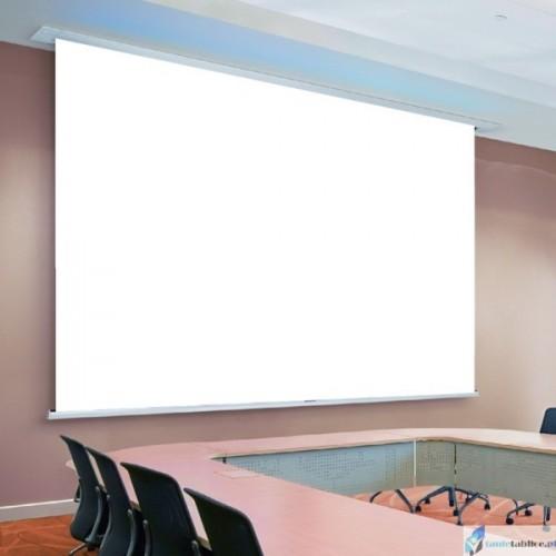 Ekran projekcyjny SUPREMA POLARIS PRO WHITE zabudowa sufitowa elektrycznie rozwijany Matt White HD