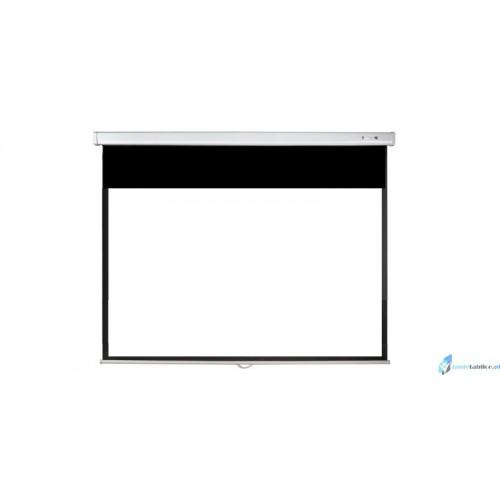 Ekran projekcyjny SUPREMA LUPUS MANUAL 4:3 ręcznie rozwijany Matt White