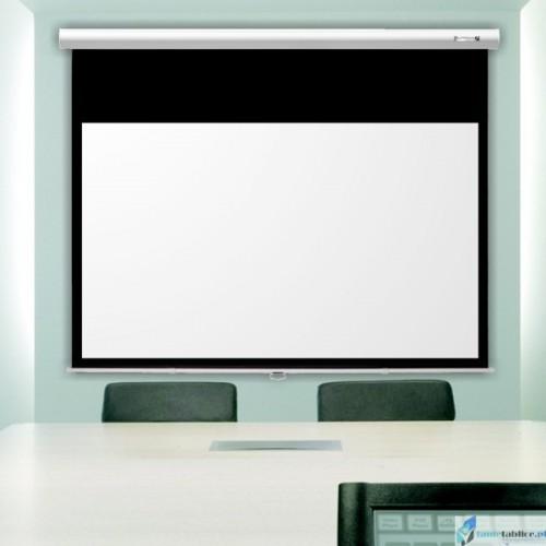 Ekran projekcyjny SUPREMA FENIKS ELEGANT 1:1 ręcznie rozwijany Matt White HD