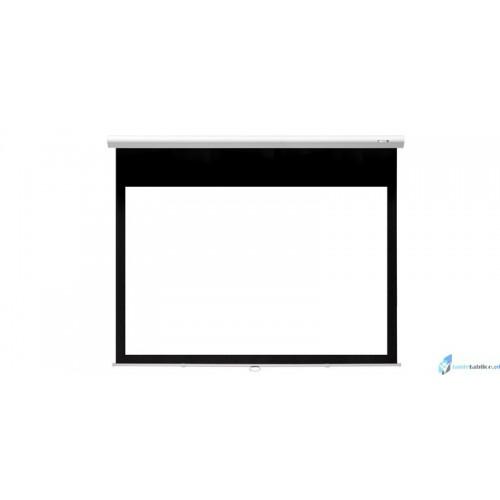 Ekran projekcyjny SUPREMA FENIKS ELEGANT 16:9 ręcznie rozwijany Matt Grey HD