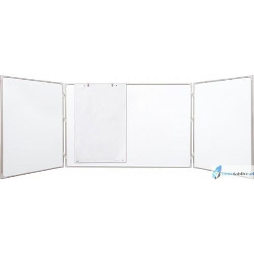 Tablica biała rozkładana lakierowana - tryptyk 120x90/240