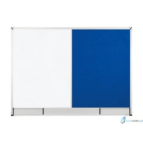 Tablica Combi suchościeralna i tekstylna 90x60 niebieska