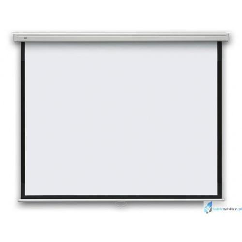 195x145 Ekran projekcyjny manualny ścienny 2x3 + wskaźnik gratis!