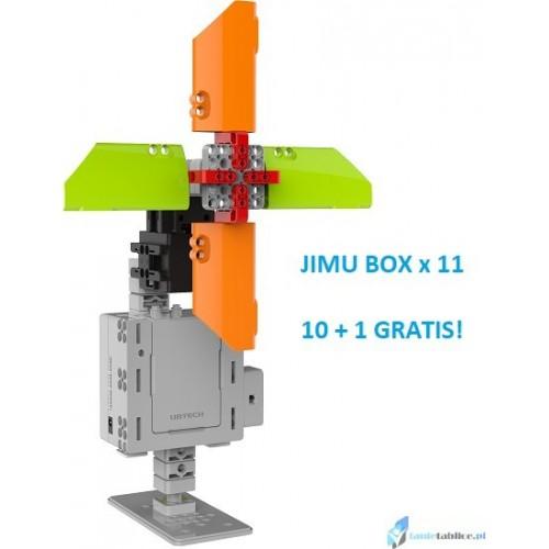 Zestaw 11x Jimu Box zabawka edukacyjna interaktywny robot klocki do nauki programowania