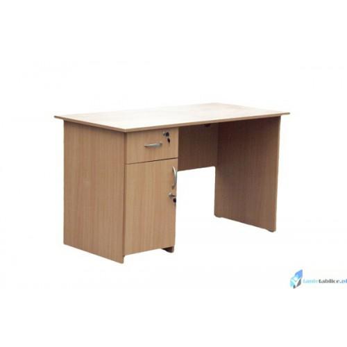 Biurko szkolone dla nauczyciela z szafką i szufladą PIOTR