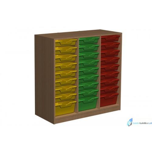 Regał przedszkolny szafka z pojemnikami Primo 126