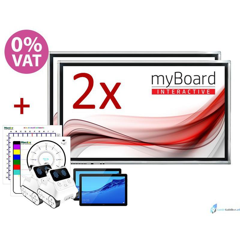 """Zestaw DUET 2 x monitor interaktywny MYBOARD 65"""""""