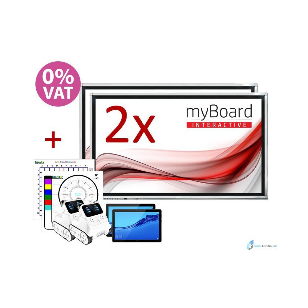 Zestaw DUET 2 x monitor interaktywny MYBOARD 65
