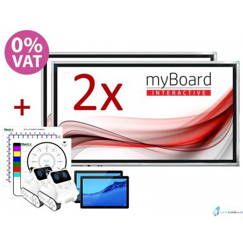 """ZESTAW DUET 2 x monitor interaktywny MYBOARD 75""""+ 65"""""""