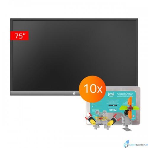 Zestaw interaktywny 1 x monitor interaktywny Avtek TouchScreen 5 Lite 75 + 10 x robot interaktywny Jimu Box