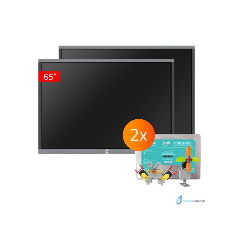 Zestaw interaktywny 2 x monitor interaktywny Avtek TouchScreen 5 Connect 65 + 2 x robot interaktywny Jimu Box