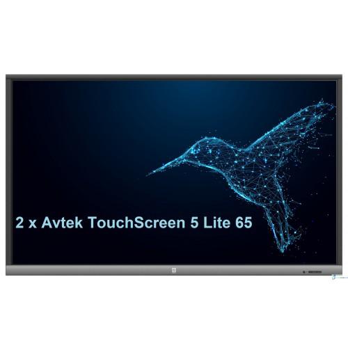 Zestaw interaktywny 2 x monitor interaktywny Avtek TouchScreen 5 Lite 65