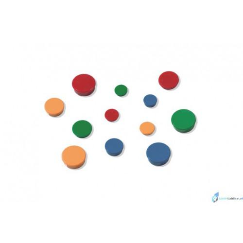 Magnesy 40mm mix kolorów 10 sztuk