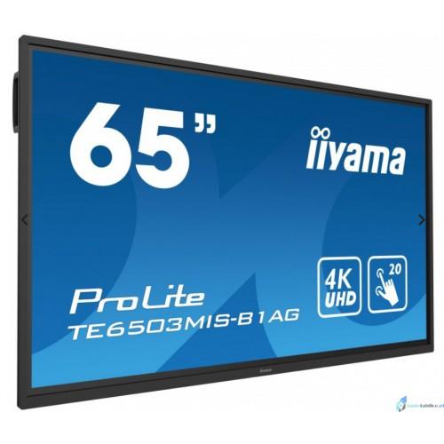 "Monitor interaktywny 65"" IIyama ProLite TE6503MIS-B1AG 65"" 24/7, 4K, AntiGlare, iiWare(Andorid)"