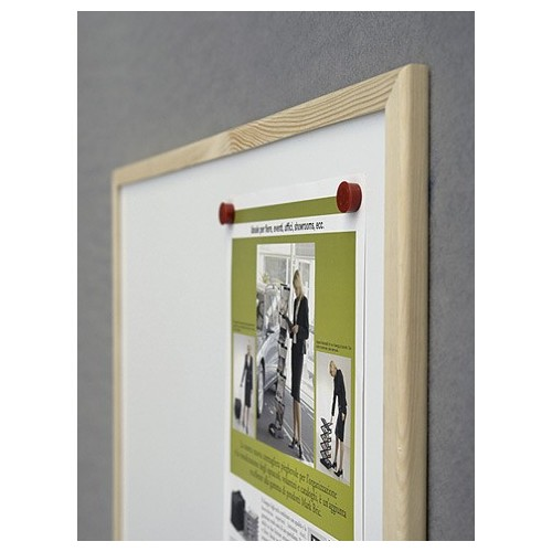 Tablica suchościeralna magnetyczna ecoBoards rama drewniana 40x30